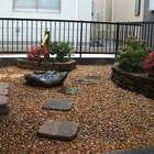 川崎区 水鉢と筧を使った植栽